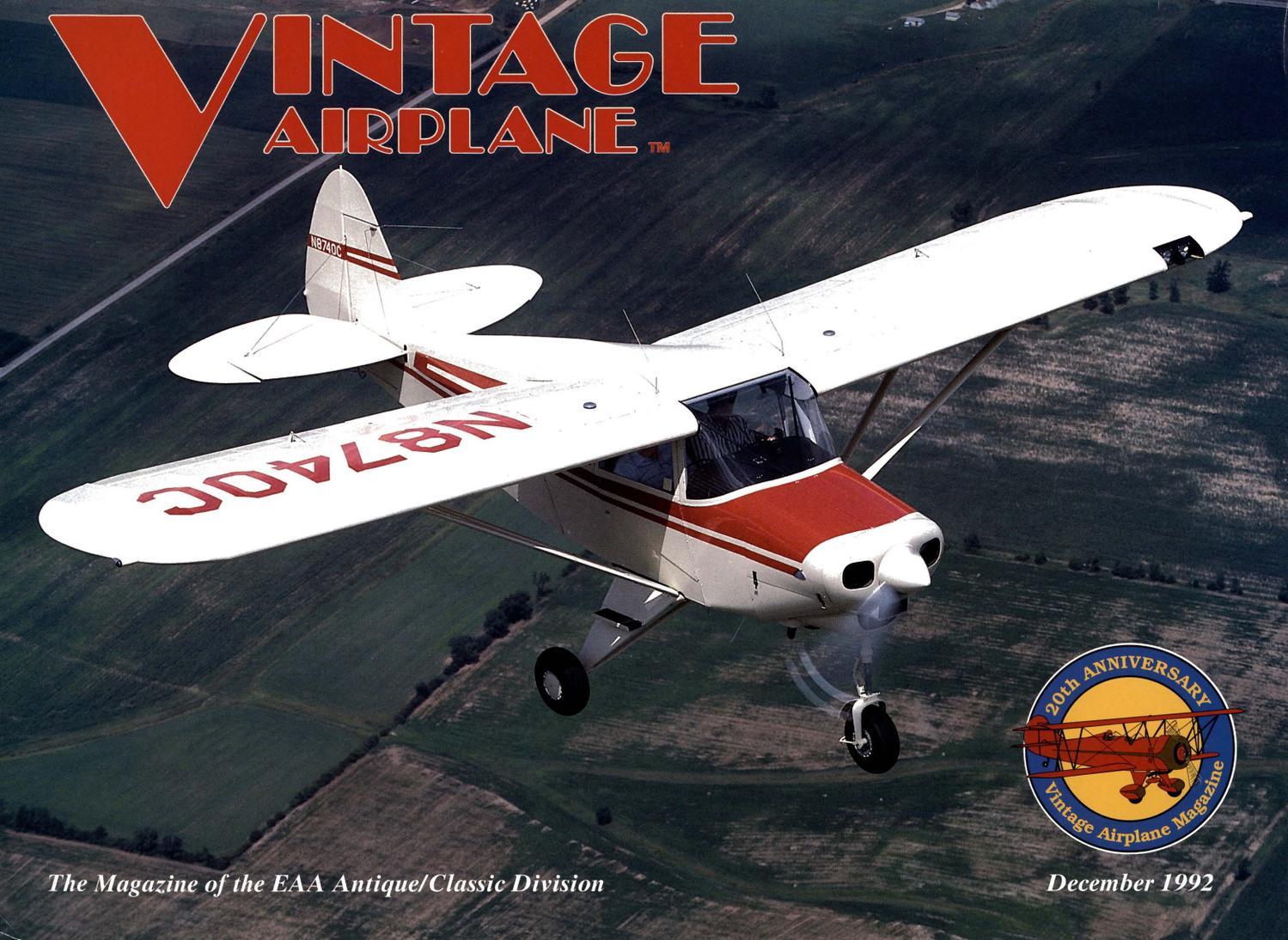 VA-Vol-20-No-12-Dec-1992 by EAA Vintage Aircraft Association - issuu