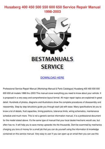 husaberg 400 450 500 550 600 650 service repa by dorian kundtz issuu husaberg 400 450 500 550 600 650 service repair manual 1998 2003