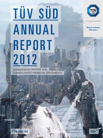 TÜV SÜD Annual Report 2012 by TÜV SÜD - issuu