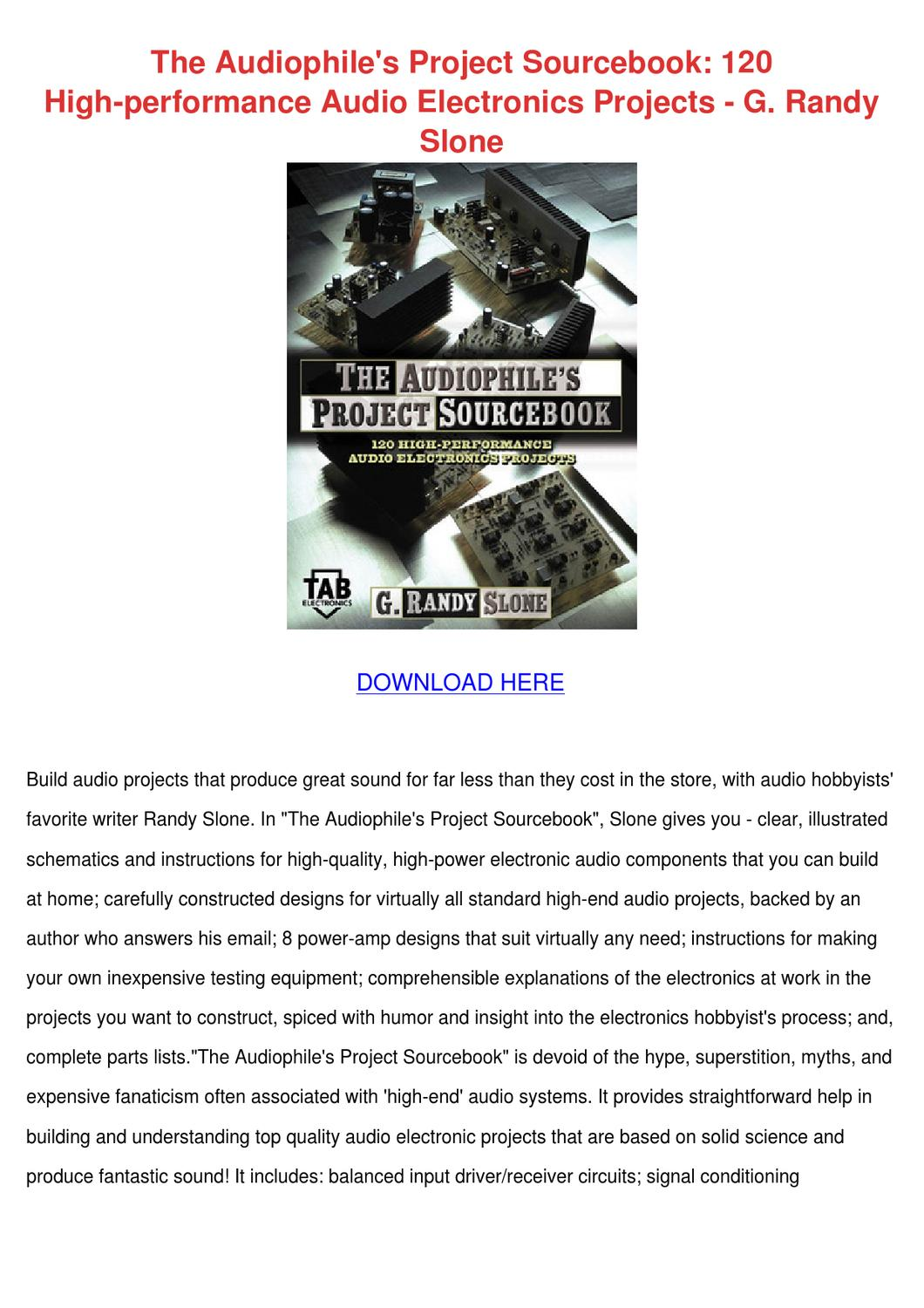 The Audiophiles Project Sourcebook 120 High P by Mariko Mccollam ...