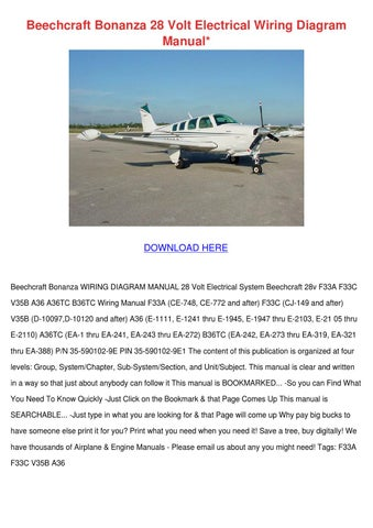 page_1_thumb_large beechcraft bonanza 28 volt electrical wiring by wan hoovler issuu  at bayanpartner.co