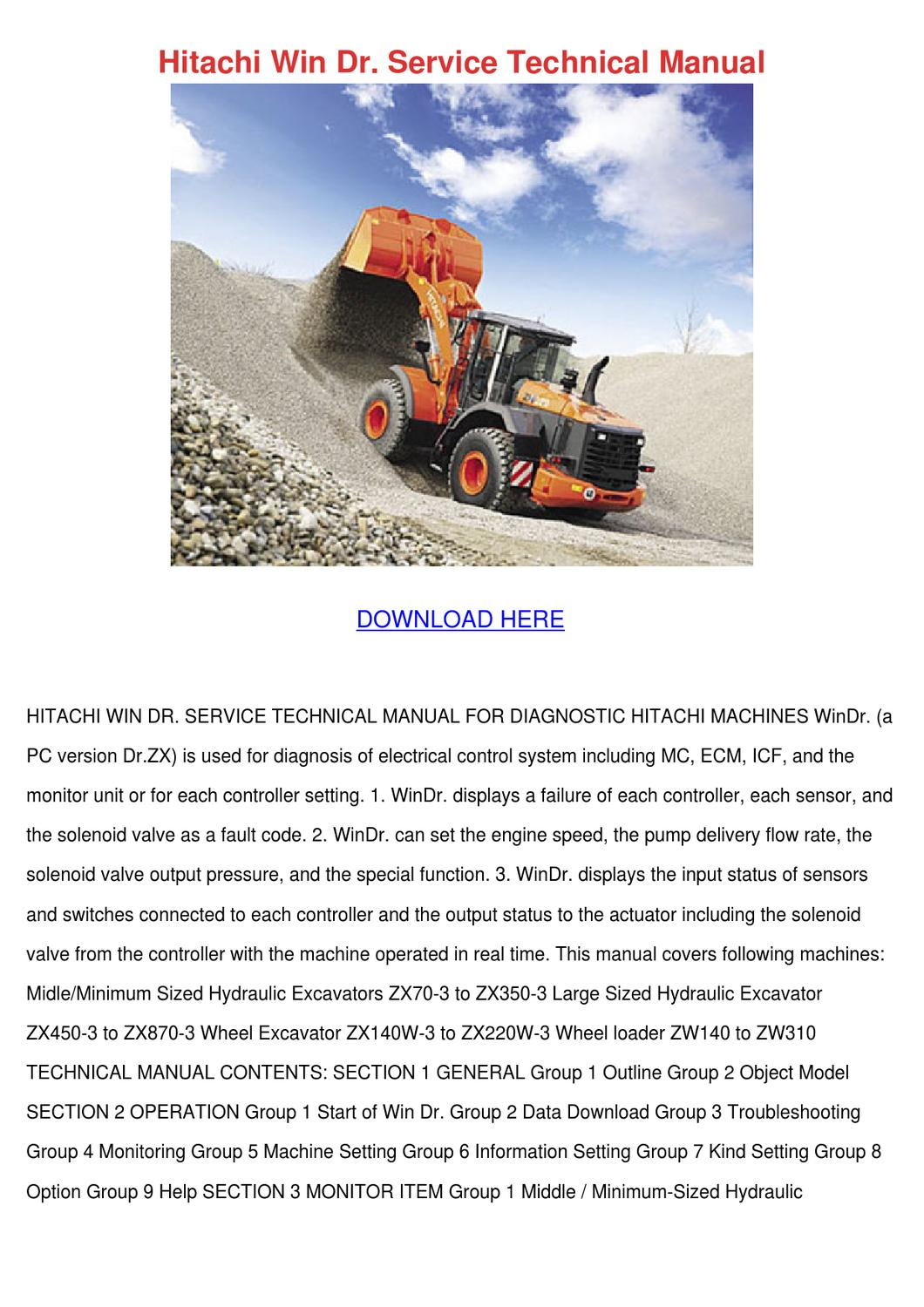 Hitachi Win Dr Service Technical Manual by Marjory Dyle - issuu