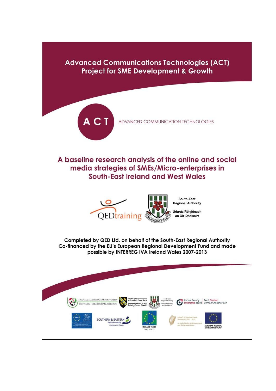 ACT Project Baseline Research Report by Terry O'Brien - issuu