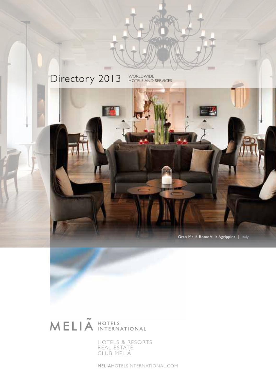 Melia Hotels International Directory 2013 By Melia Hotels