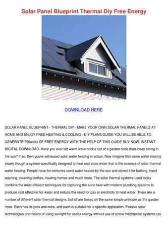 Solar panel blueprint thermal diy free energy by for Solar panel blueprint
