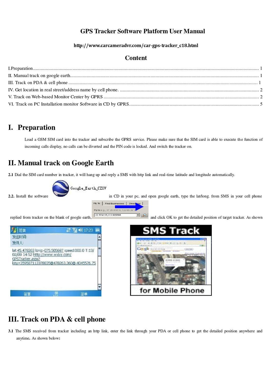 GPS Tracker Software Platform User Manual by cardvr