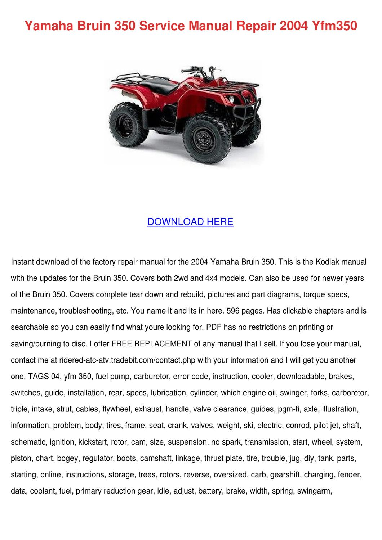 Both Yamaha Bruin YFM350 Front Wheel Bearing and Seal Kit 2004-2006
