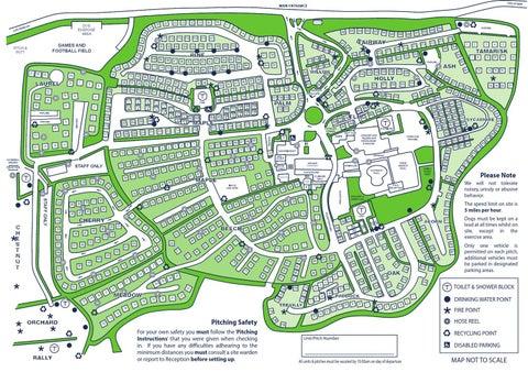 Hendra Holiday Park Map 2013 Hendra Site Map by Hendra Holiday Park   issuu Hendra Holiday Park Map