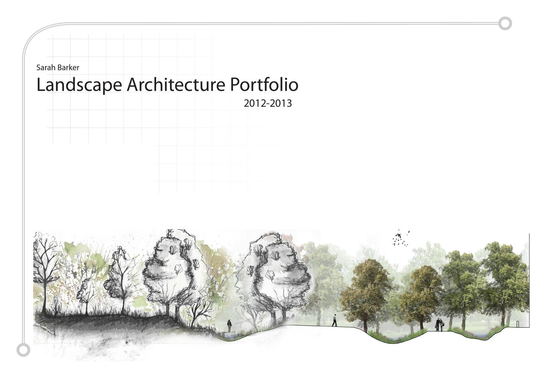 sarah barker undergraduate landscape architecture portfolio by