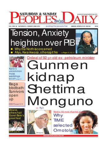 e57c7a80 Peoples Daily Newspaper, Saturday 4th, May, 2013 by Peoples Media ...