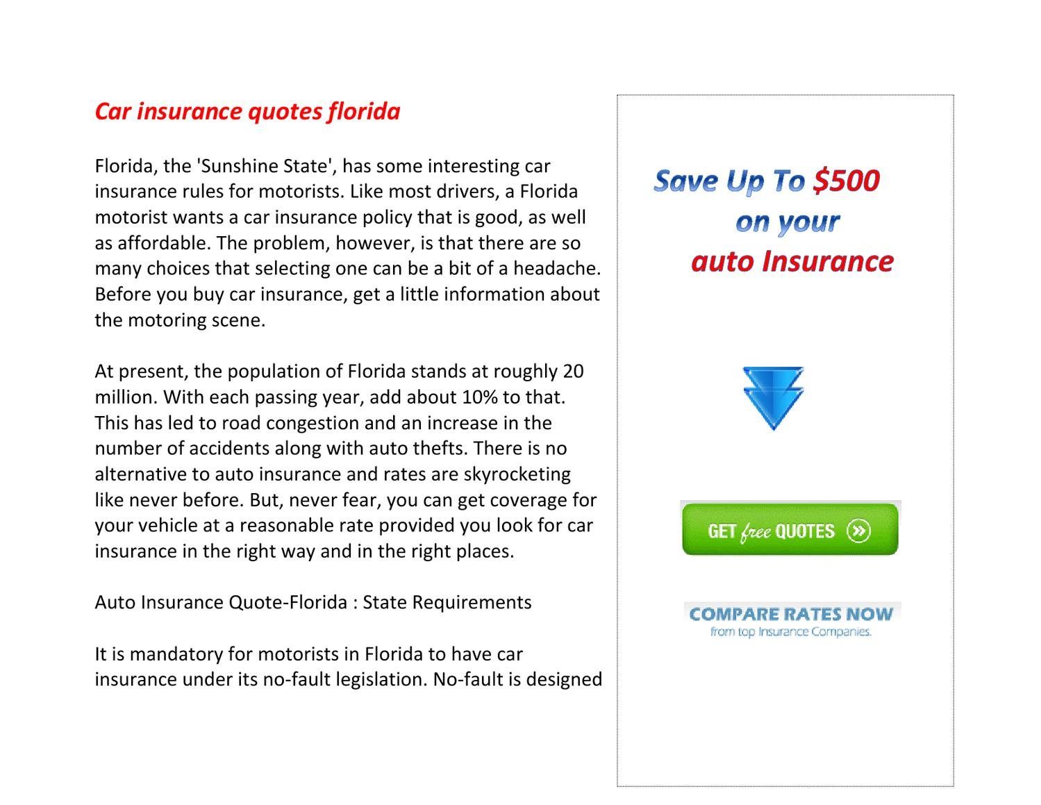 Car Insurance Quotes Florida By Heather Cobb Issuu