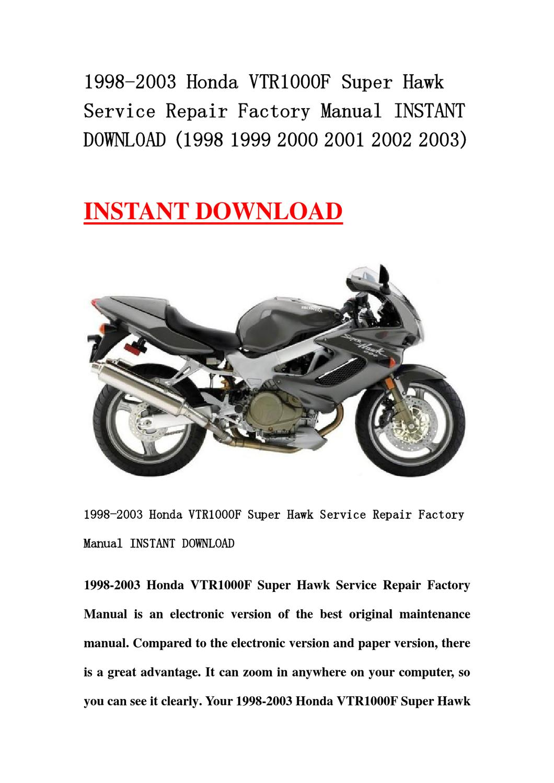 2003 honda vtr1000f maintenance manual pdf
