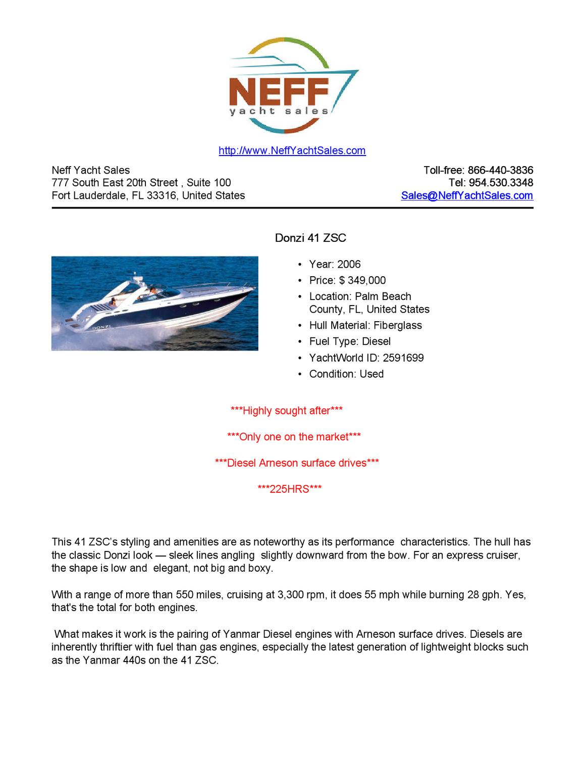 41' 2006 Donzi 41 ZSC for Sale - Neff Yacht Sales
