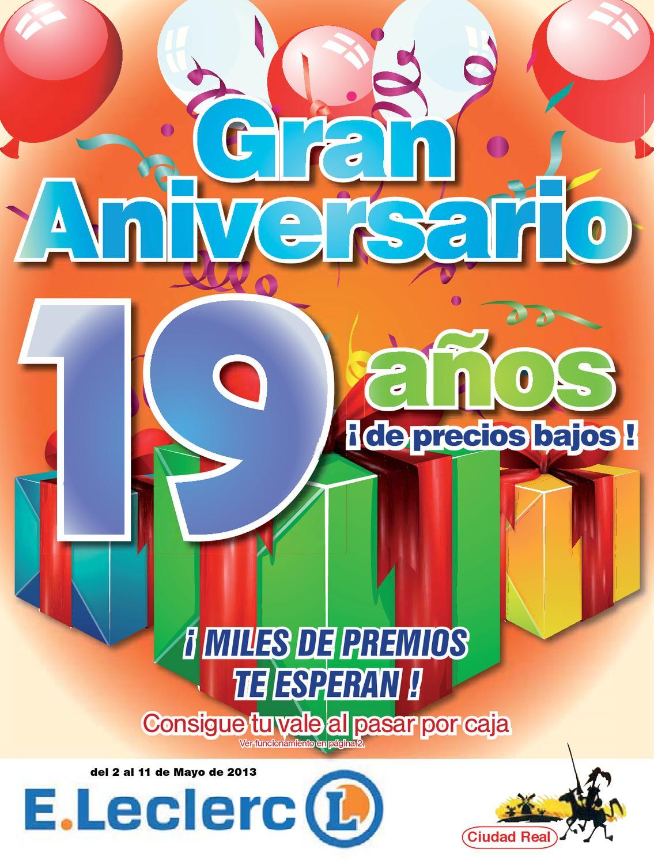 Eleclerc Gran Aniversario 19 A Os 02 05 Al 11 05 Del 2013 By  # Muebles Leclerc Ciudad Real