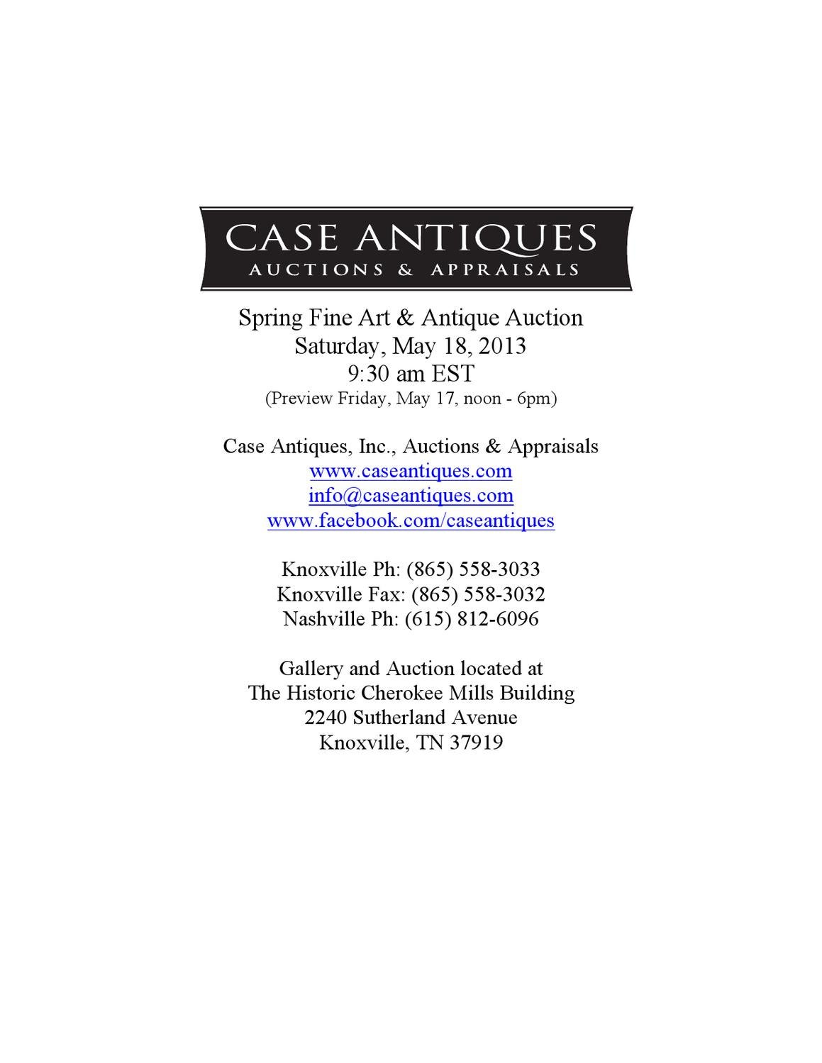 Case Auctions May 5 5 Auction Catalog by Case Antiques, Inc