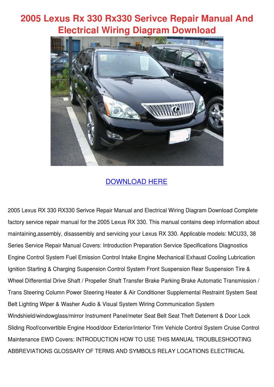 2005 Lexus Rx 330 Engine Diagram Full Hd Version Engine Diagram Taubdiagram Radd Fr