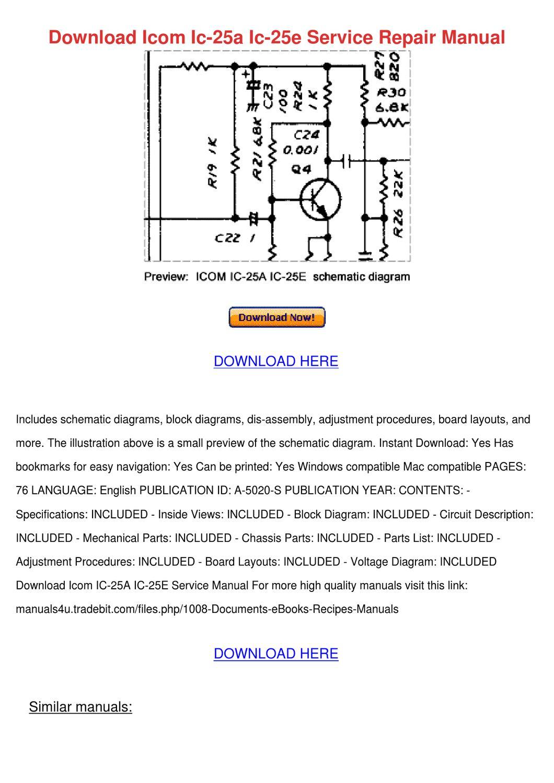 Icom ic-02at service manual.