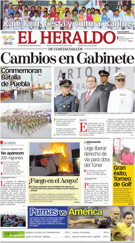 Heraldo de Coatzacoalcos 06mayo2013 by El Heraldo de Coatzacoalcos ISSUU -  issuu 38df79dcd76