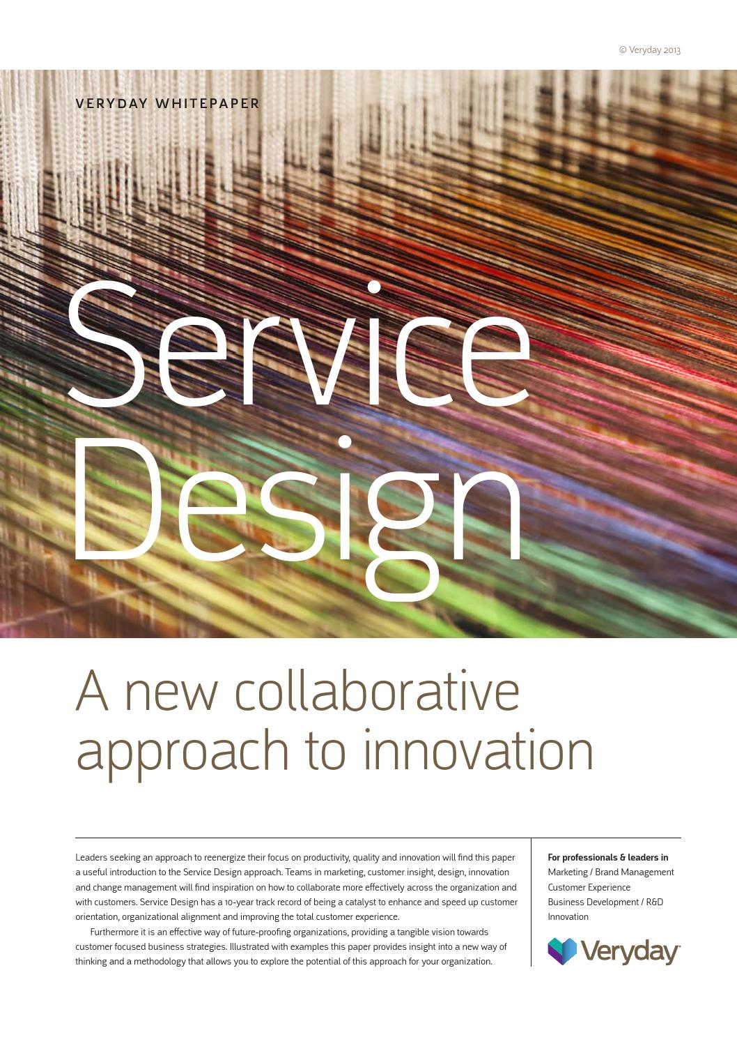Service innovation essay