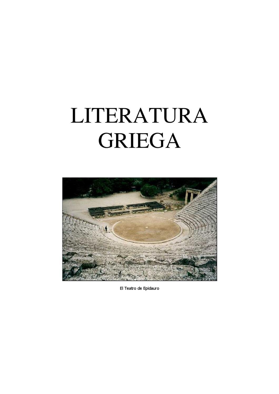 Literatura griega 2º by Antonio Lopez Gamiz - issuu