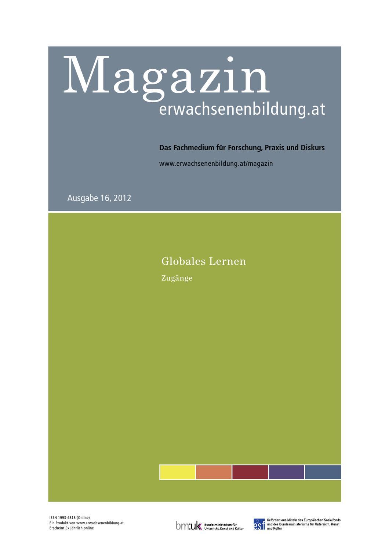 Globales Lernen - Zugänge, Magazin erwachsenenbildung.at Nr. 16 ...