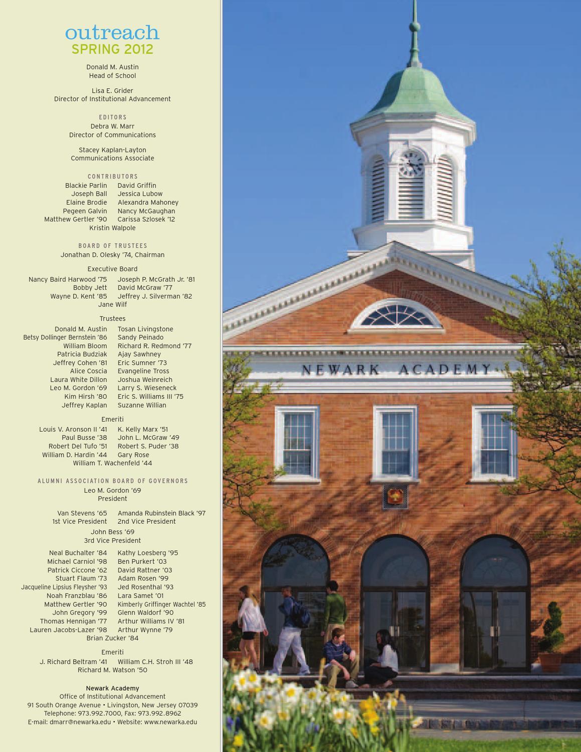 Spring 2012 by Newark Academy - issuu