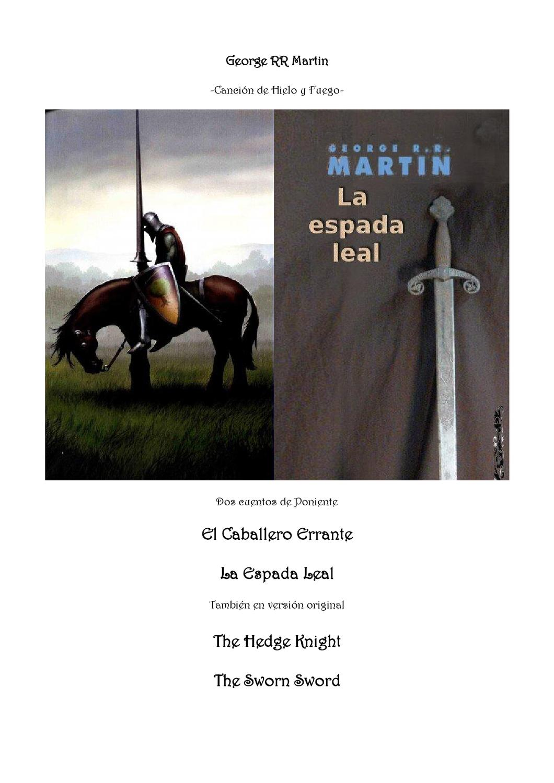 dd7292f239 EL CABALLERO ERRANTE Y LA ESPADA LEAL by Alejandra Gutierrez Calzada - issuu