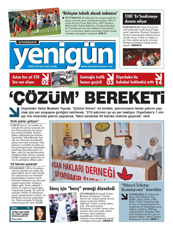 Diyarbakir Yenigun Gazetesi 7 Mayis 2013 By Osman Ergun Issuu