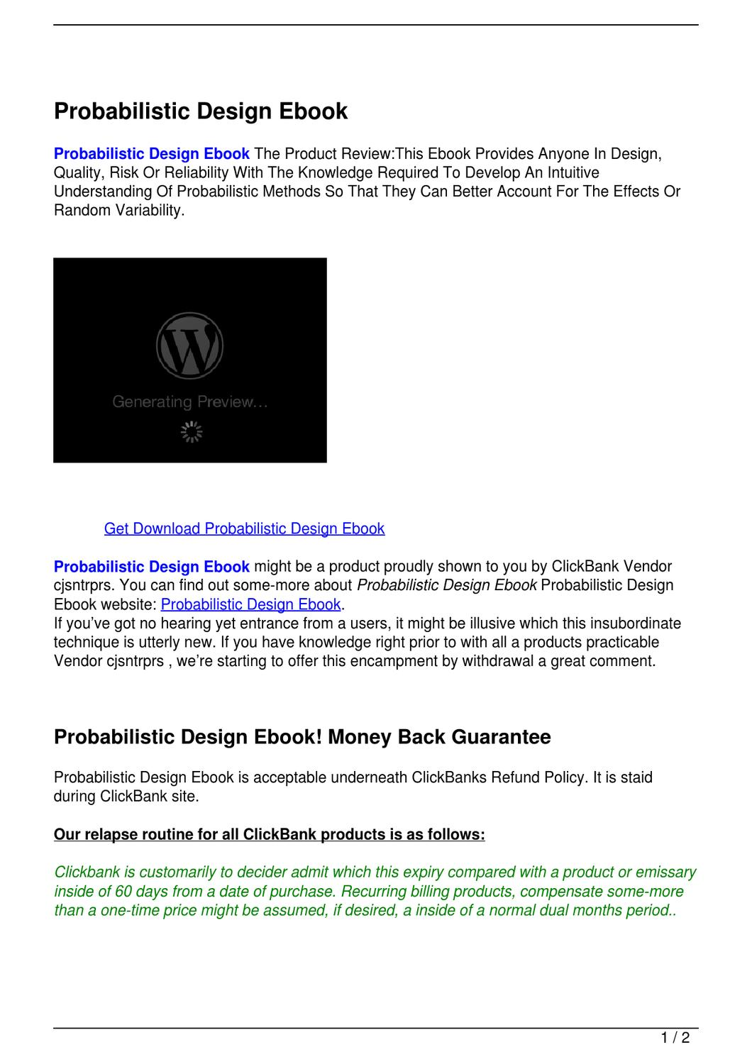 Probabilistic design ebook by hamdouch bk issuu fandeluxe Choice Image