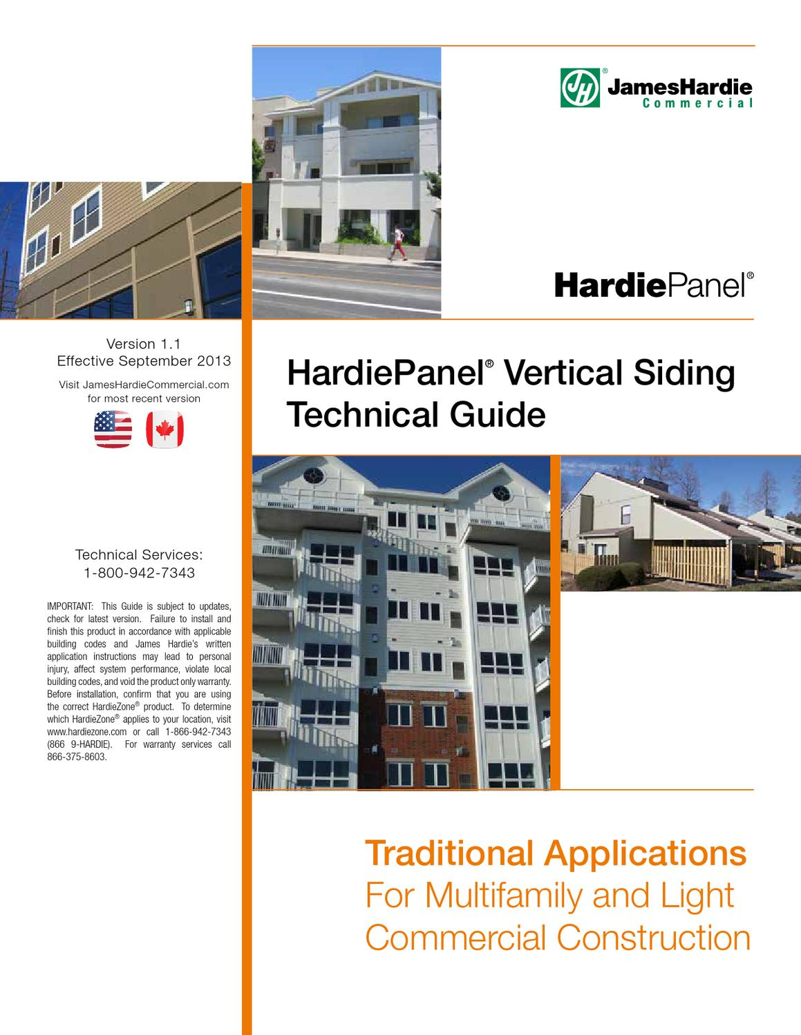Hardiepanel 174 Vertical Siding Technical Guide By Buildingonline Of Florida Issuu