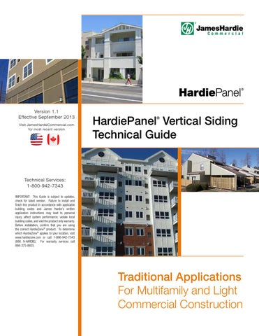 HardiePanel® Vertical Siding Technical Guide by