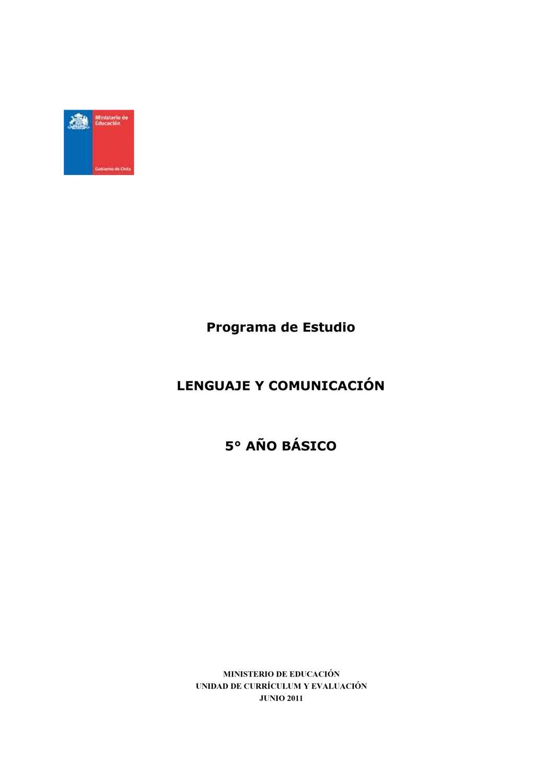 Programas de estudio de quinto básico. by Daniela Arriagada - issuu