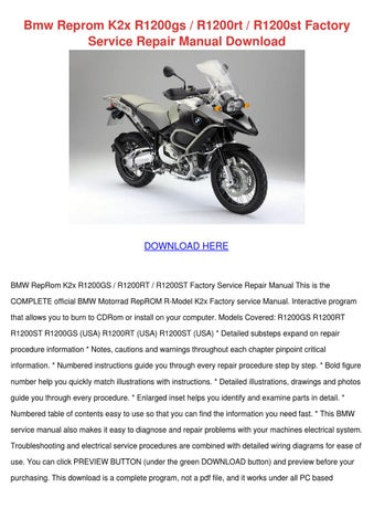 Bmw Reprom K2x R1200gs R1200rt R1200st Factor By Toby