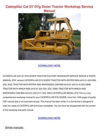 Caterpillar Cat D7 D7g Dozer Tractor Workshop by Toby Schane - issuu
