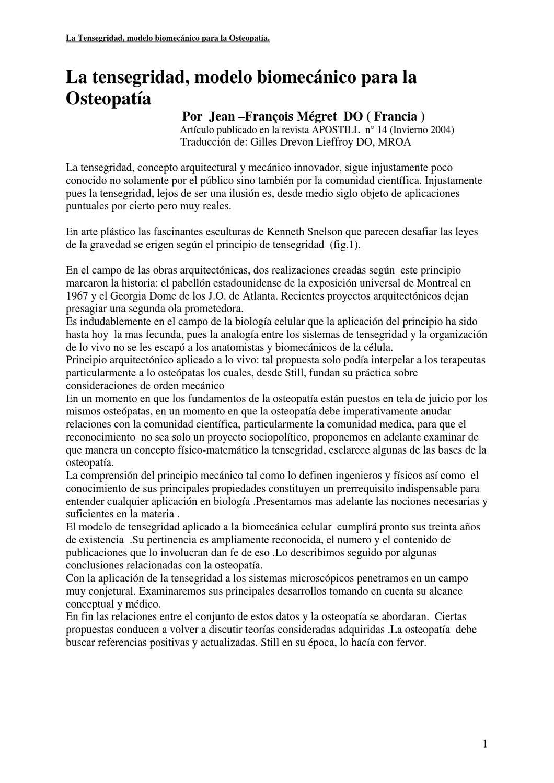 TENSEGRIDAD ENFOQUE OSTEOPATICO by formacion axarquia - issuu