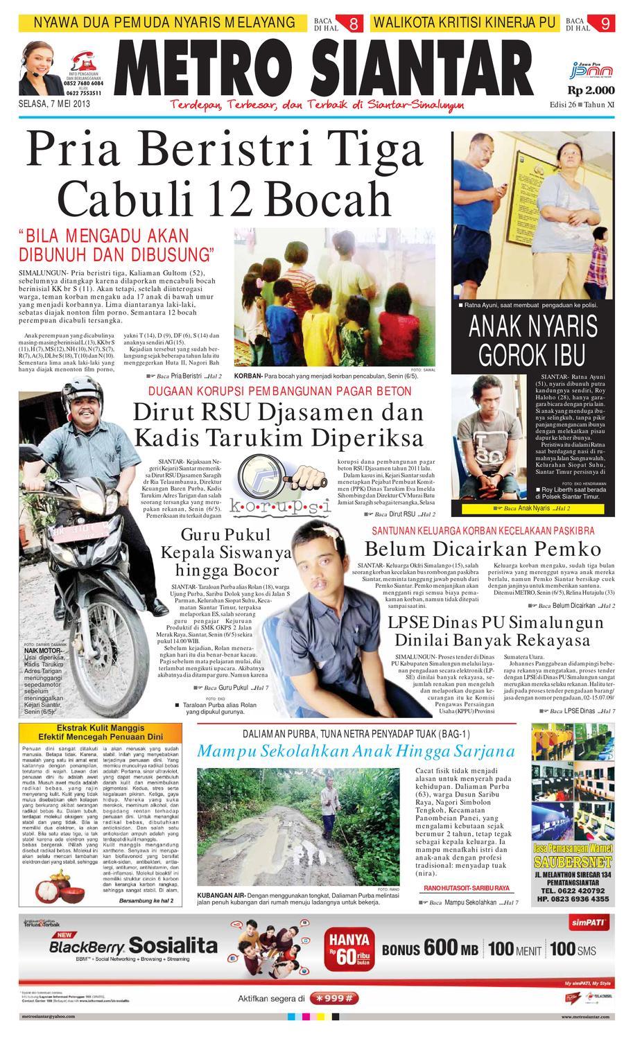 Epaper Metro Siantar Online By Issuu Herman Vincent Womenamp039s Briefcase Merah