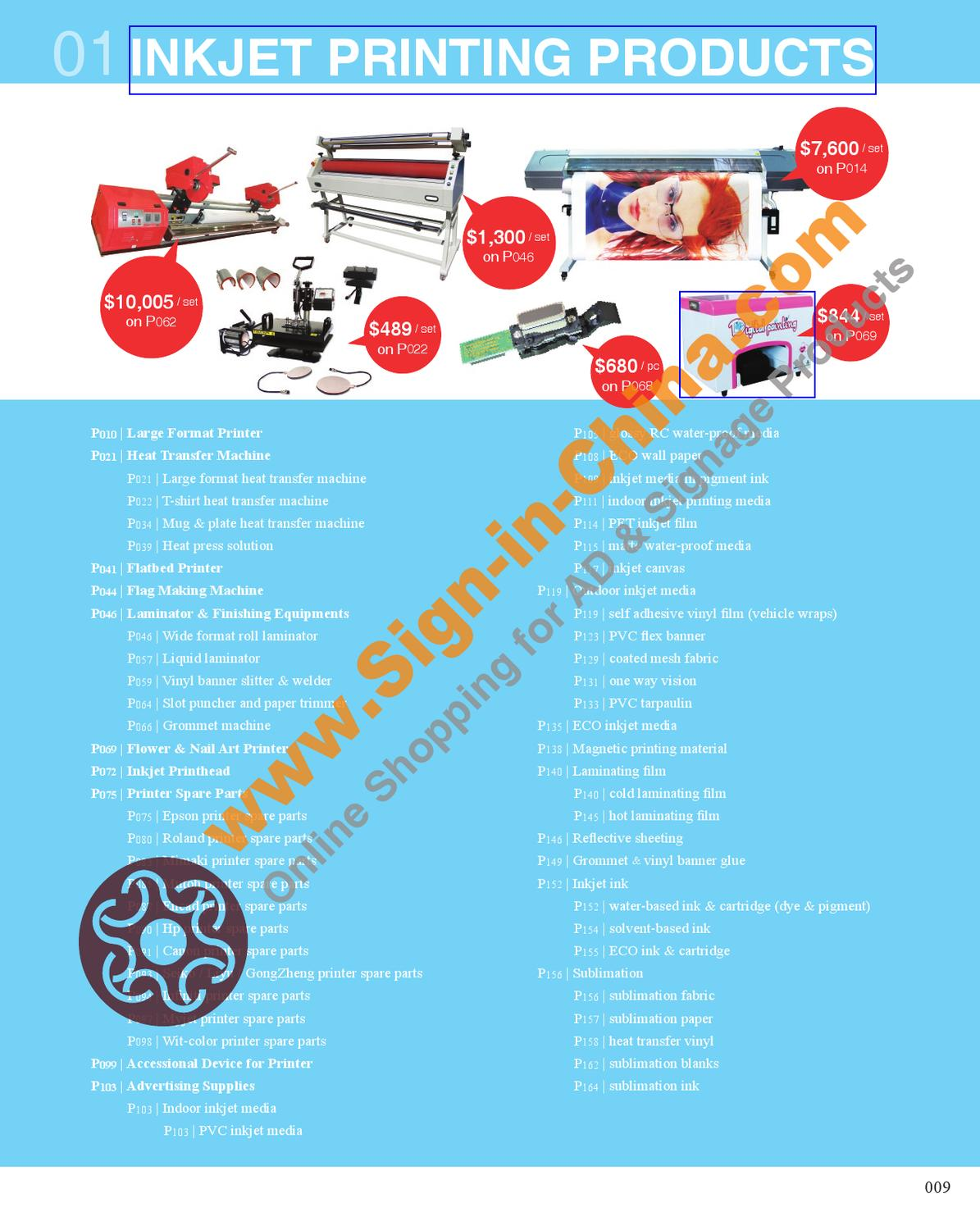 Inkjet Printing Products By China Chinasigns Issuu