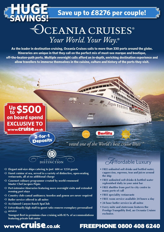 Oceania Cruises DM May13 by Cruise co uk - issuu