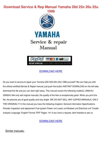 yamaha outboard f150c lf150c factory service repair workshop manual instant download