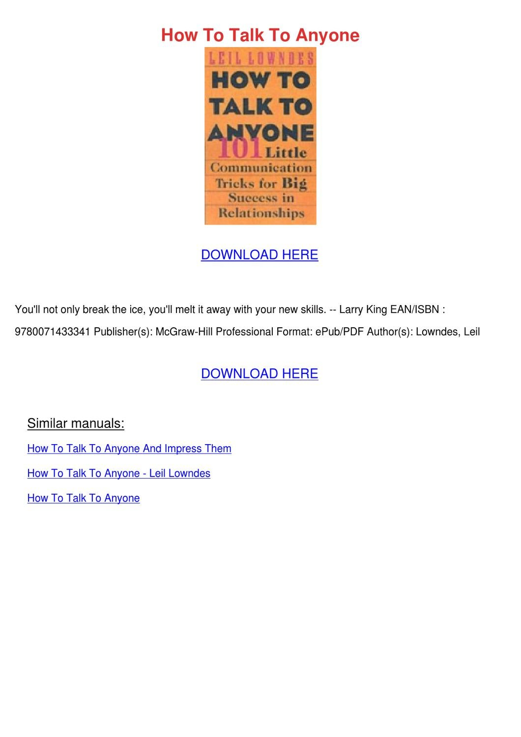 how to talk to anyone leil lowndes audiobook download