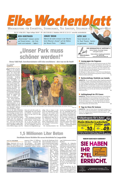 Eimsbuttel Kw19 2013 By Elbe Wochenblatt Verlagsgesellschaft Mbh