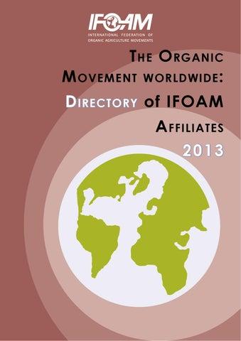 IFOAM Directory 2013 by IFOAM Publications - issuu