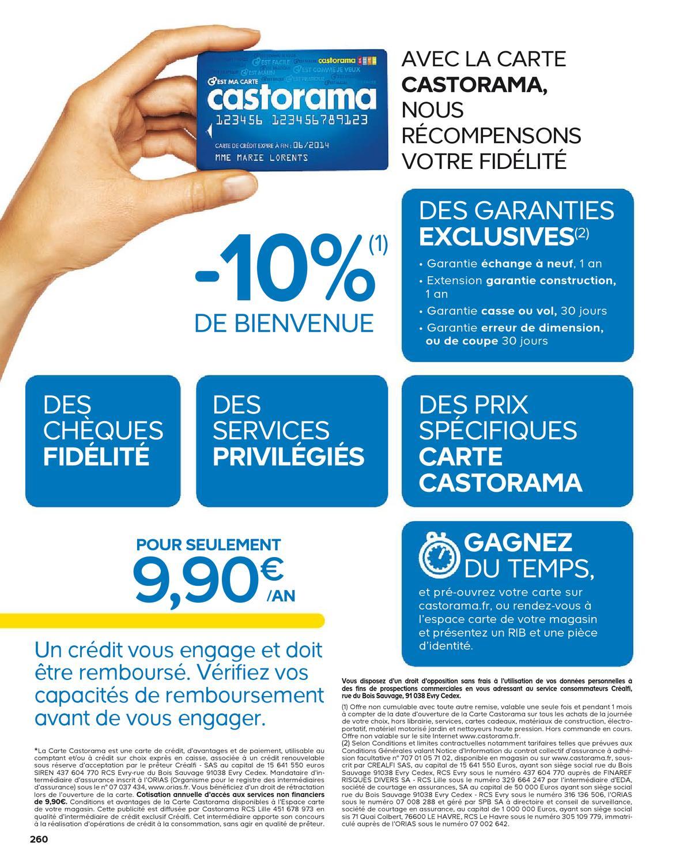 Carte Castorama Cheque Fidelite.Catalogue Amenagement Interieur 2013