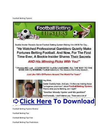 Betting On Football Tips + Football Betting Tips Today by