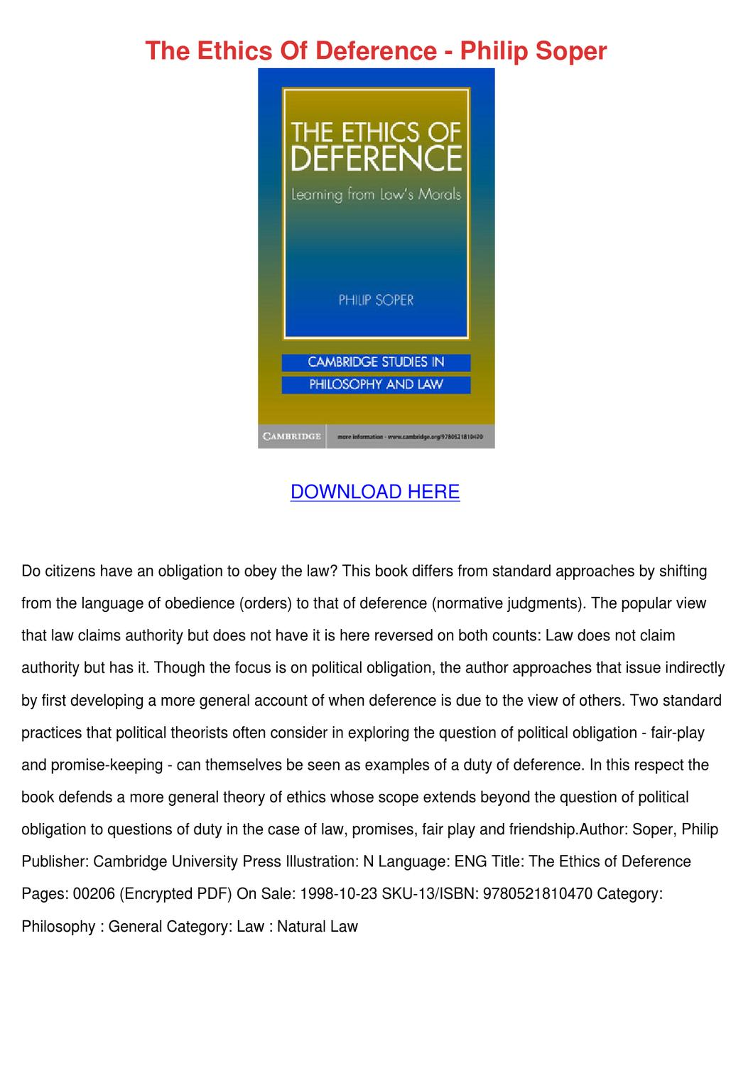 the obligation to obey the law the normative Some normative perspectives on borders and asylum seekers  and law are undocumented immigrants obligated to obey us  because people have an obligation to follow .