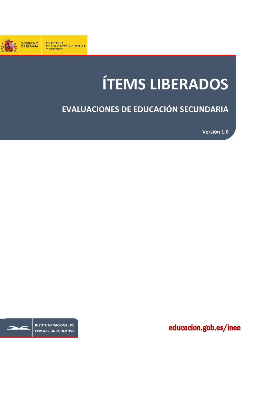 Items Liberados Secundaria Evaluacion Pisa By Lidia Gutierrez Arranz Issuu