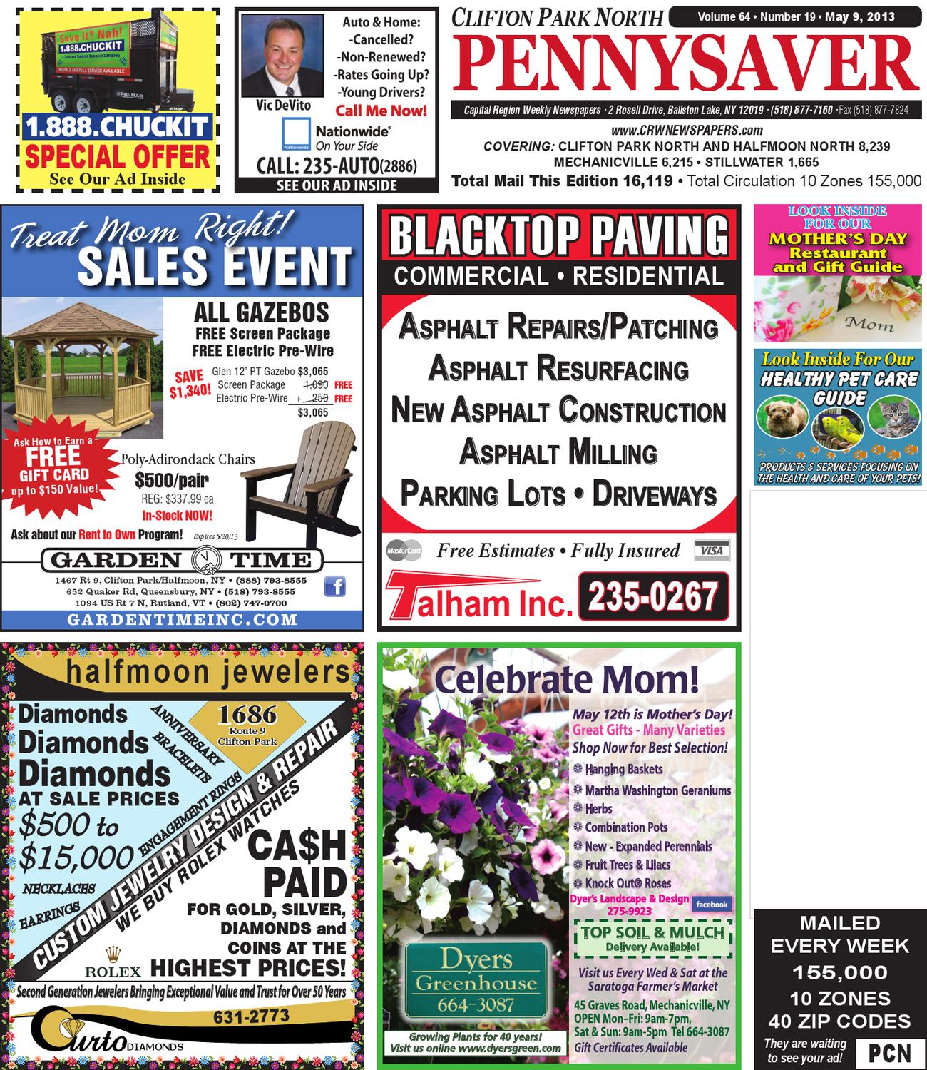 4d1abd202 Clifton Park North Pennysaver 050913 by Capital Region Weekly Newspapers -  issuu