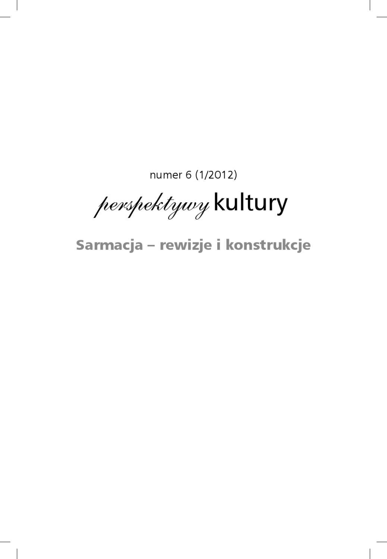 Perspektywy Kultury Nr 6 By Tomasz Tisończyk Issuu