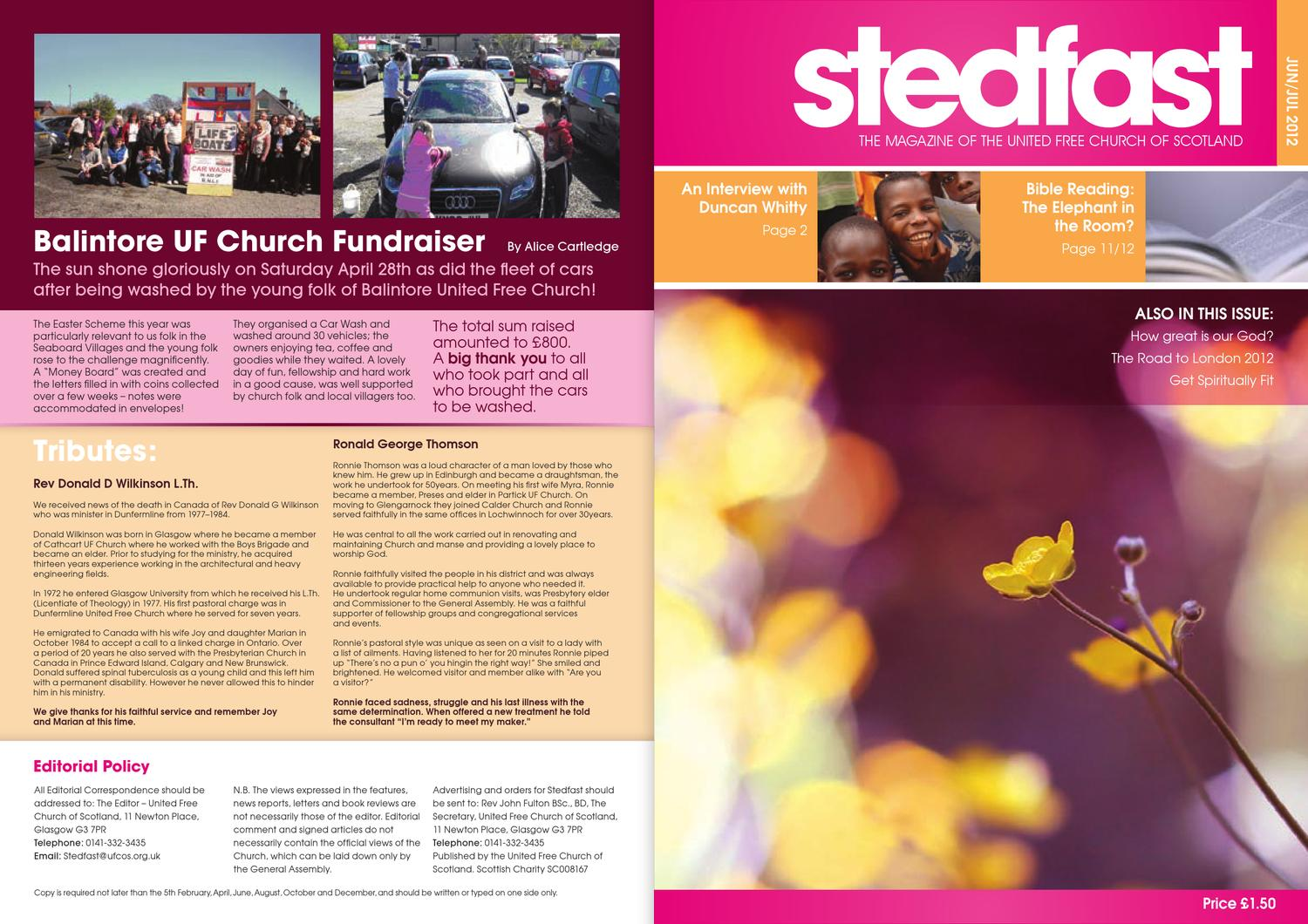 Steadfast June 2012 by Colin McDowall - issuu