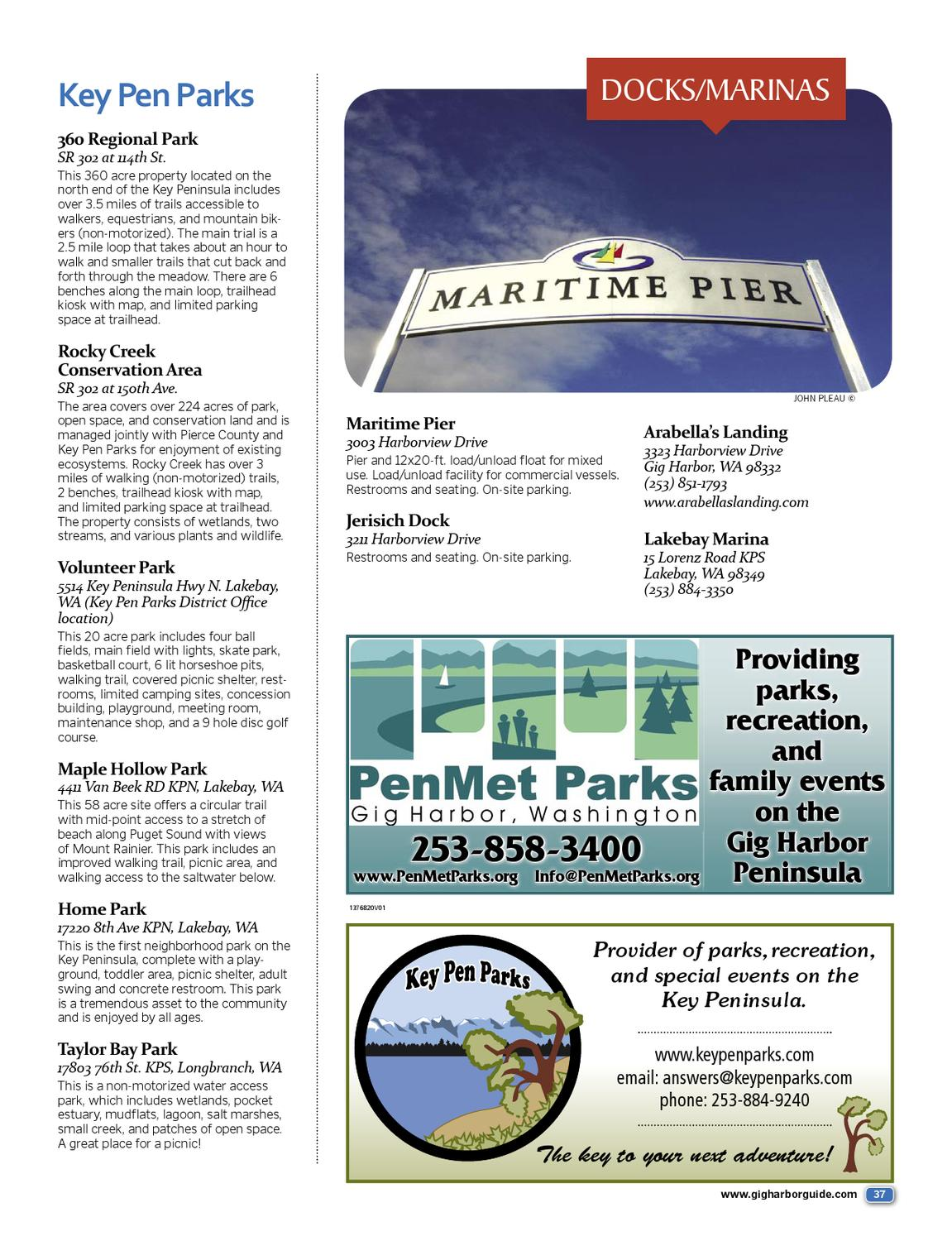 Gig Harbor Visitors Guide 2013 By Jim Appelgate